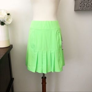 Jofit golf skort with pleats lime green size large